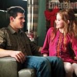 Jacob and his future wife Renesmee in Breaking Dawn Part 2